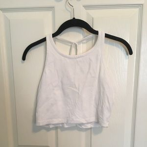 5 for 20! Charlotte Russe White crop top